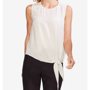 Beautiful! Vince Camuto textured tie waist blouse